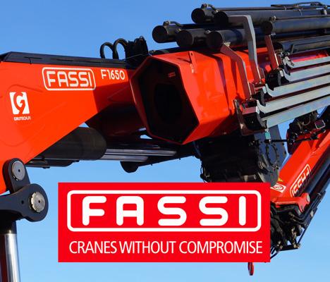 Fassi F1650R asennusnosturi